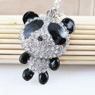 Cute Black and white panda sweater chain necklace 10274