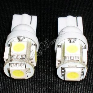 2x New T10 194 168 W5W 5-SMD Car Side Wedge LED White 10083