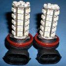 2x 68 SMD H8 H11  Car Vehicle LED white Fog Light Bulbs 10080