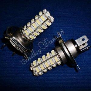 2x 68 SMD H4 Car Vehicle LED white Fog Light Bulbs 12V 10073
