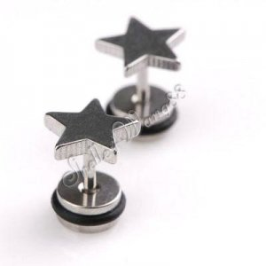 2x Nice Stainless Steel Star Shaped Studs Earring YL496