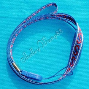 16 inch Blue&Red Neck Strap Lanyard for Mp3 Cell Phone ID Camera USB Card A0052