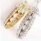 Korean Style Cool Pea  Folder Necklace Golden/Silver 10281