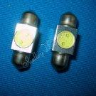 2X 31mm Festoon 1W Car Interior Led Dome Light Bulbs DC 12V White New A0276