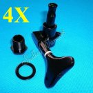 4R InLine Black Bass Tuners Machine Head Tuning Peg Set A0065