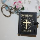 New MINI Holy BIBLE MINIATURE KEY CHAIN Keyring VBS Christian Jesus Black Cover A1179