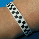 Silicon Rubber Bangle Elastic Belt Bracelet Women Men Unisex Shepherd check Grid A1005