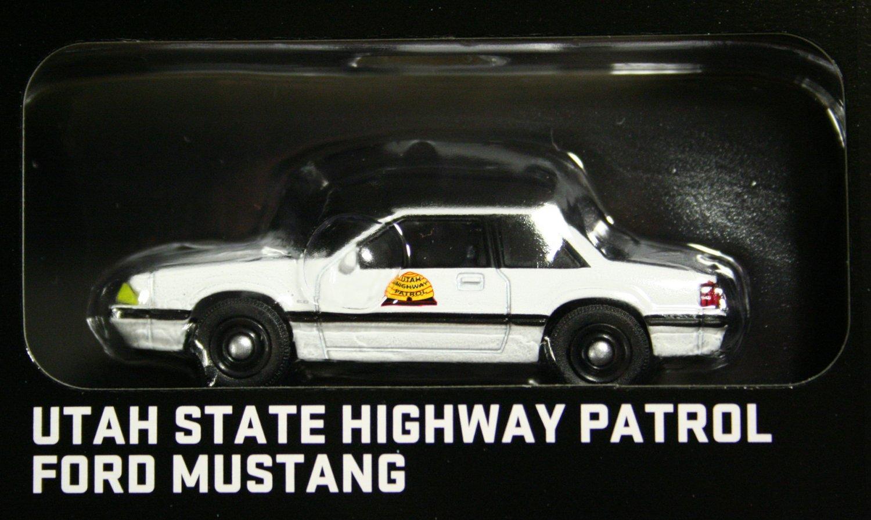 GreenLight Hot Pursuit 1988 Ford Mustang Utah St Highway Patrol