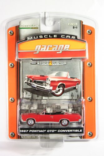 GreenLight 1967 Pontiac GTO Muscle Car Garage Stock & Custom Series 1