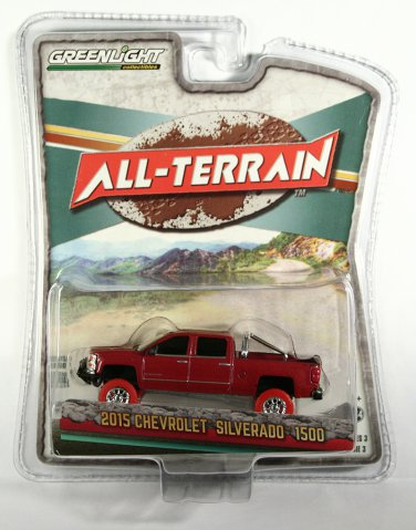 GreenLight 2015 Chevrolet Silverado 1500 RED TIRE CHASE - Target Exclusive