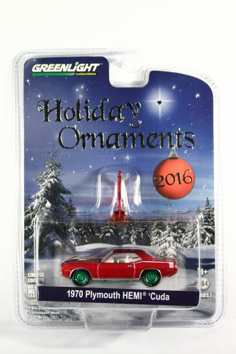 GreenLight GREEN MACHINE 1970 Plymouth 'Cuda Holiday Ornaments S1
