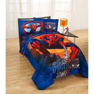 spiderman twin comforter and sheet set
