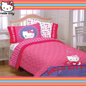 Hello Kitty and Me Twin Comforter Set