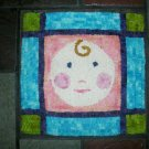 Baby Face Rug Hooking Pattern Nursery Hooked Pillow