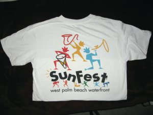 1997 Sunfest official t-shirt, size medium