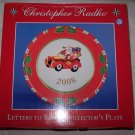 Christopher Radko Letters to Santa 2008 Plate