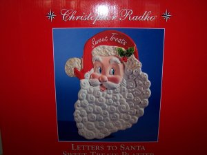 Christopher Radko Letters to Santa Sweet Treats Platter