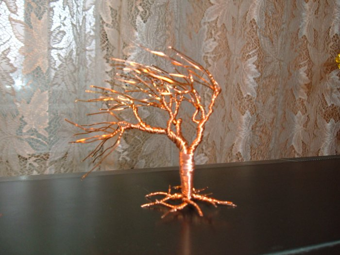 Wire tree sculpture No.9