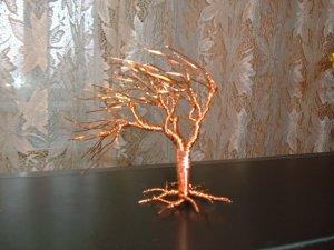 Wire tree sculpture No.9