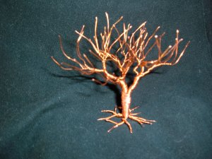 Wire tree sculpture No.8