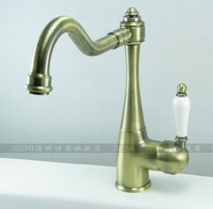 Contemporary Solid Brass Kitchen Faucet 8414