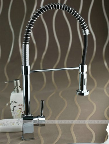 Solid brass body & pull-down handspray singal handle Spring Pull Out Kitchen Faucet -85503 chrome