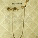 NEW** wall mount shower  Faucet antique brass finish sw-86048B