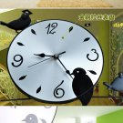 Birds on Tree Wall Clock in metal
