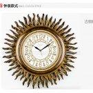Antique Inspired Sunburst Polyresin Wall Clock