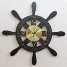 Black Rudder Wall Clock 23.5""