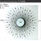 "31.5"" Modern Peacock Metal Wall Clock"