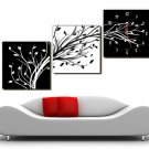 "12"" Modern Style Tree Wall Clock in Canvas 3pcs-15"