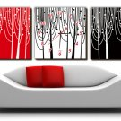 """12"""" Modern Style Tree Wall Clock in Canvas 3pcs-14"""