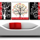 "12"" Modern Style Tree Wall Clock in Canvas 3pcs-13"