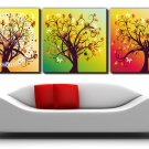 "12"" Modern Style Tree Wall Clock in Canvas 3pcs-7"