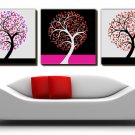 """12"""" Modern Style Tree Wall Clock in Canvas 3pcs-5"""