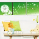 "12"" Modern Style Dandelion Wall Clock in Canvas 3pcs"