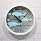 Blue Fish Design Wall Clock