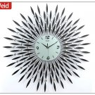 "31"" Modern Crystal Metal Wall Clock"