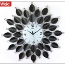 "26.5"" Modern Crystal Metal Wall Clock"