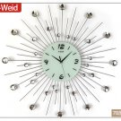 "28"" Modern Design Iron Wall Clock"
