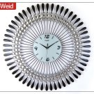 "31.5"" Modern Peacock Metal Wall Clock"
