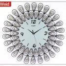 Modern Peacock Metal Wall Clock-Ⅰ