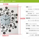 "22"" Europa Floral Metal Wall Clock"