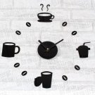 Stylish DIY Coffe Time Wall Clock