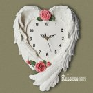 Wing Design Polyresin Wall Clock