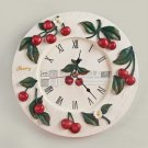 Cherry Resin Mute Wall Clock