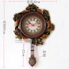"25"" Floral Elegant Polyresin Wall Clock"