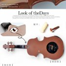 Euro Violine Polyresin Wall Clock