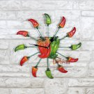 Hot pepper Resin Mute Wall Clock